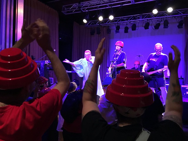 Devo fans in Cleveland at the Devotional