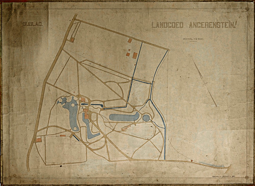 Kaart van het Landgoed Angerenstein uit 1908
