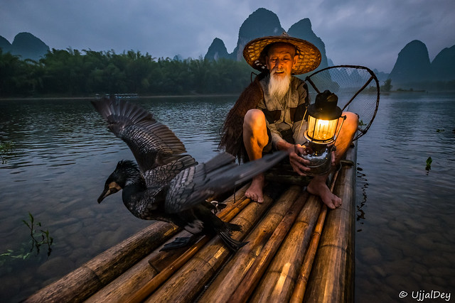Cormorant Fisherman @Yangshuo, Fujifilm X-E2S, XF10-24mmF4 R OIS
