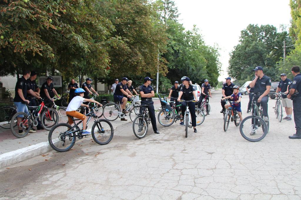 Patrularea pe bicicletă a polițiștilor din cadrul Inspectoratului de poliție Leova