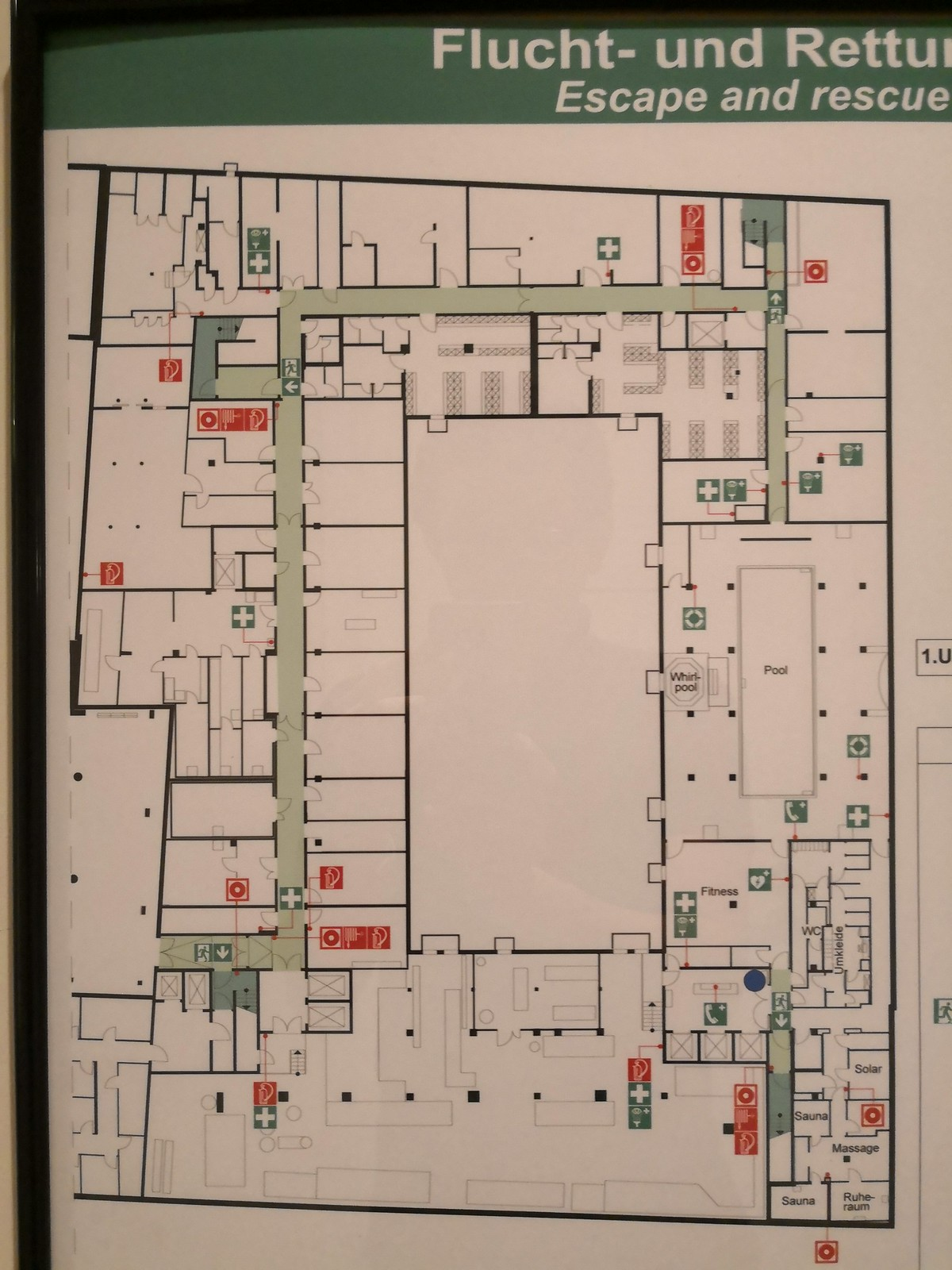 Floor plan of the Wellness area
