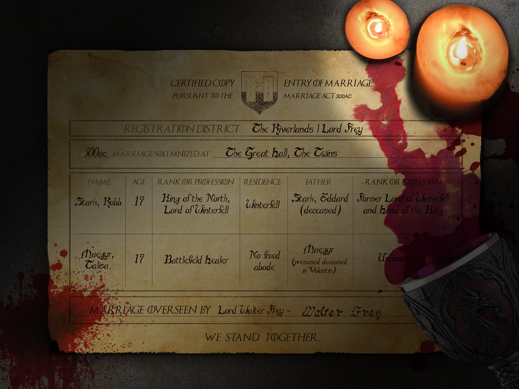 Red Wedding Certificate