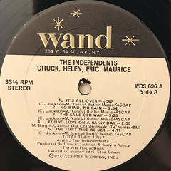 THE INDEPENDENTS:CHUCK, HELEN, ERIC, MAURICE(LABEL SIDE-A)