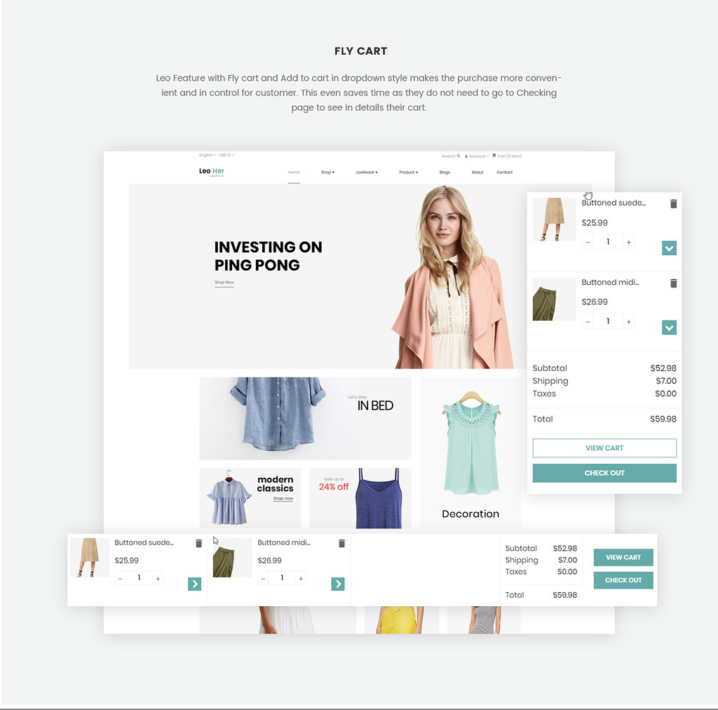 fly cart-ajax cart-Prestshop module feature