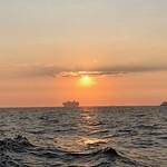 Sonnenuntergang an der Elbmündung