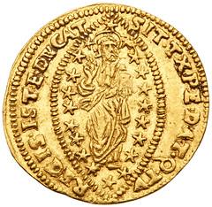 Zecchino of Giovanni I. Corner rev