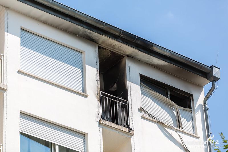 Wohnungsbrand Wilhelmstr. 06.08.18