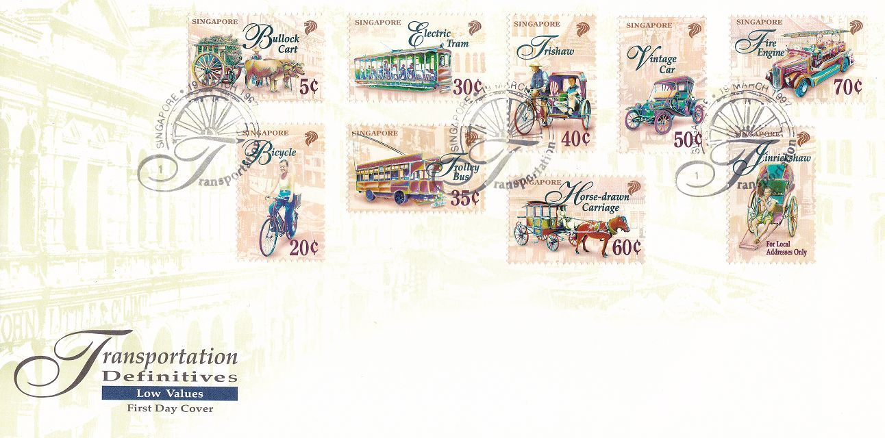 Singapore - Scott #780-788 (1997) first day cover