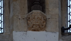 man with a big moustache (roof corbel, 15th Century)