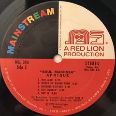 AFRIQUE:SOUL MAKOSSA(LABEL SIDE-B)