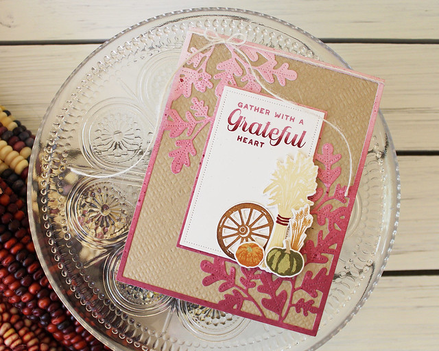 LizzieJones_PapertreyInk_August2018_BoldBordersFoliage_FenceLineAutumn_GratefulHeartCard
