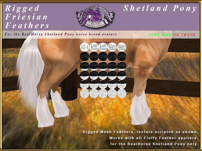 E-RH-Shetland-RiggedMeshFeathers-Friesian - TeleportHub.com Live!