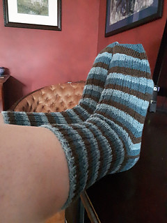 Linda (lmcnorton)'s A Nice Ribbed Sock by Glenns C. using Stray Cat Socks in Set Adrift!