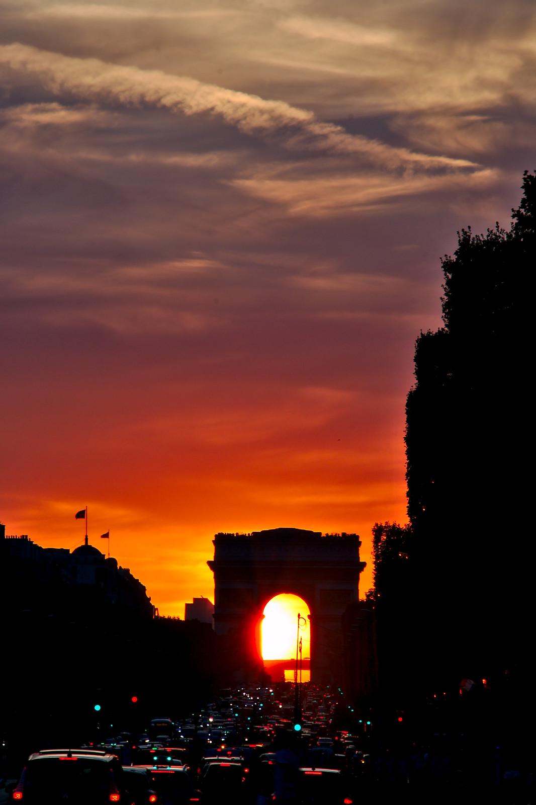 Coucher du Soleil   sunset in Paris