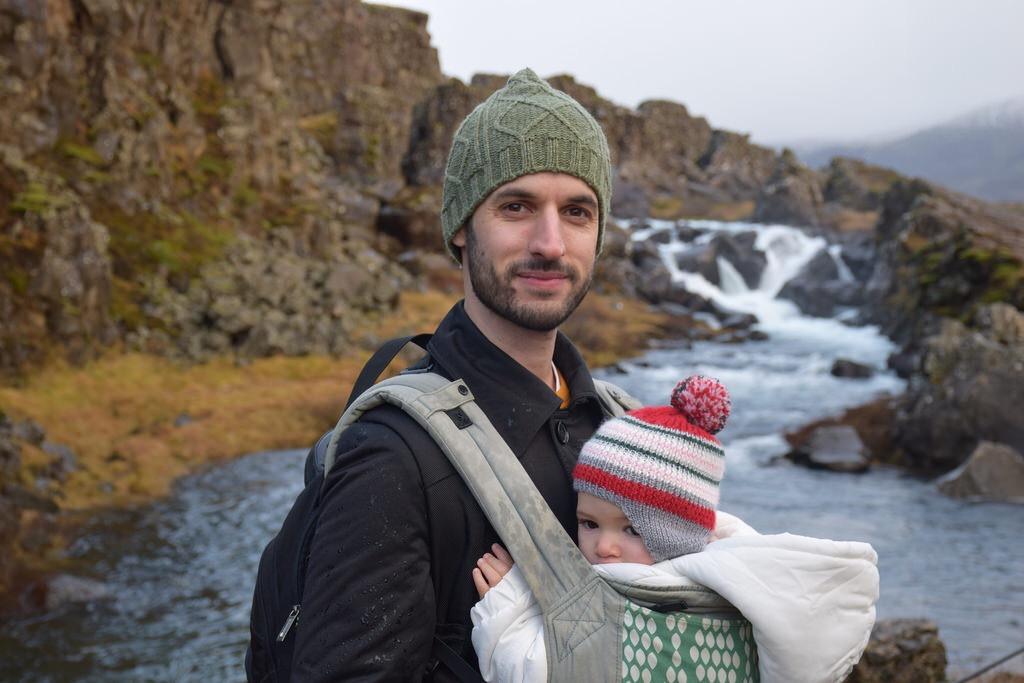 Con papá en Islandia