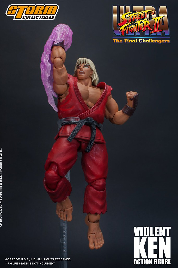 Ultra Street Fighter II: The Final Challengers Violent Ken 1/12 Scale Figure by Storm Collectibles