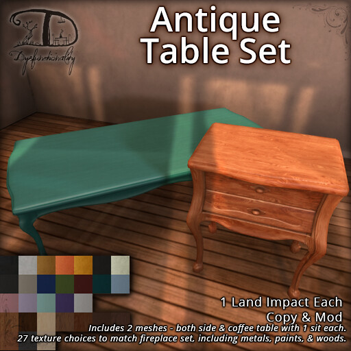 Antique Table Set for FLF! - TeleportHub.com Live!