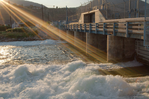 Sunset at Penticton Dam