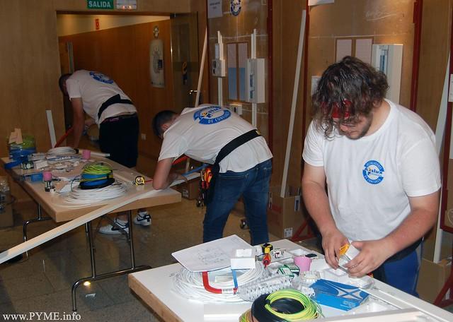 Imagne del ejercicio práctico llevado a cabo por los participantes de la fase provincial del XV Concurso de Jóvenes Instaladores.