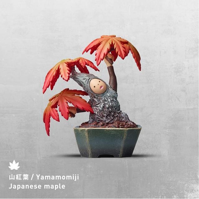 盆惱扭蛋:雞爪槭(山紅葉 Yamamomiji / Japanese Maple)