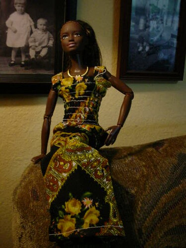 vintage barbie dress maxi