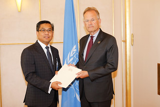 NEW PERMANENT REPRESENTATIVE OF MYANMAR PRESENTS CREDENTIALS TO THE DIRECTOR-GENERAL OF THE UNITED NATIONS OFFICE AT GENEVA