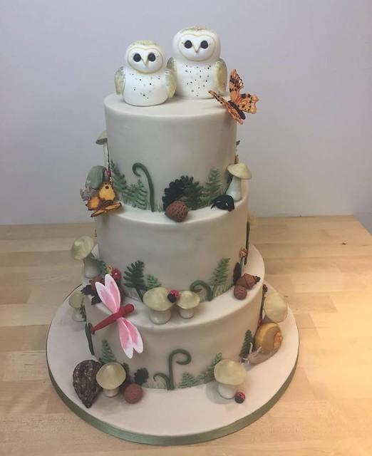 Woodland Themed Wedding Cake from Cakes by Tasha