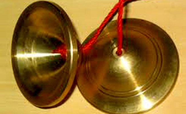 Traditional Khmer finger cymbals known as ching