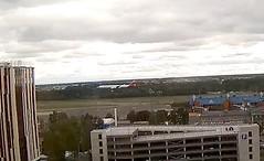 Iberia Airbus A340 EC-JPU football fan charter Tallinn Airport webcam
