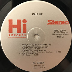 AL GREEN:CALL ME(LABEL SIDE-B)