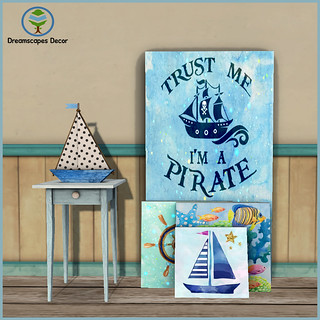 *Pirate* Canvas Cluster Set - Dreamscapes Art Gallery