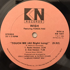 WISH FEATURING FONDA RAE:TOUCH ME(ALL NIGHT LONG)(LABEL SIDE-B)