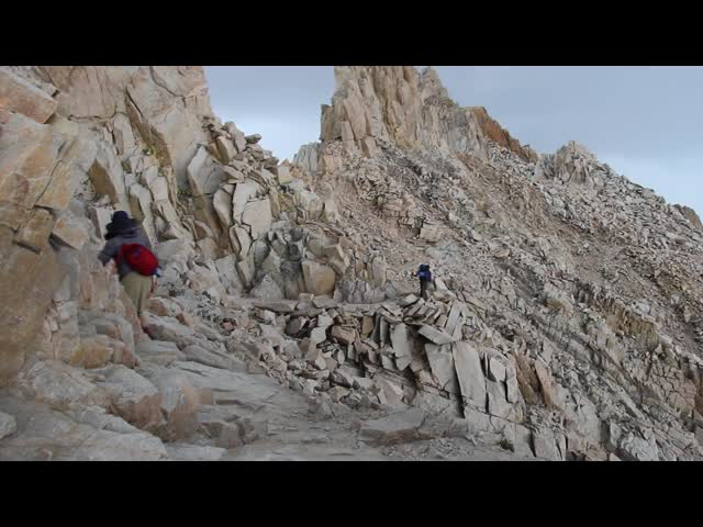 1683 Video of Thunder and Lightning on the John Muir Trail just south of Mount Whitney