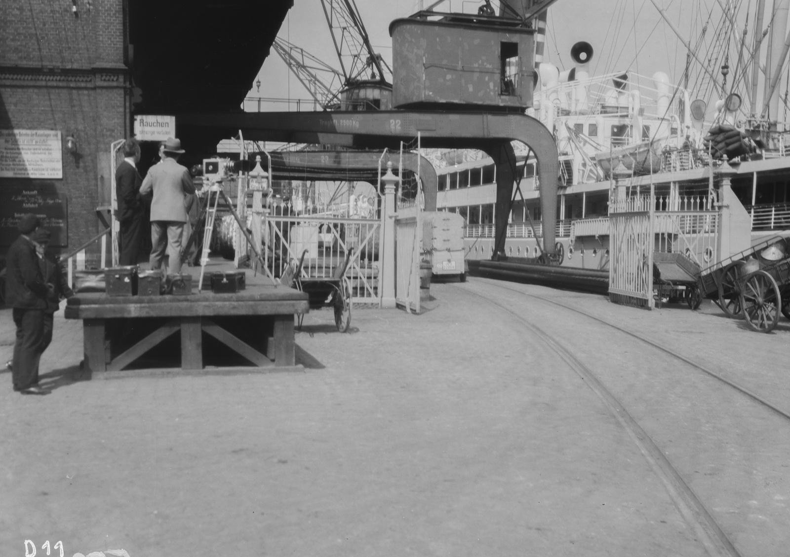 Гамбург. В порту. Подготовка камеры