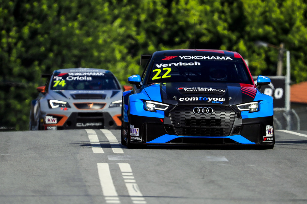22 VERVISCH Frederic, (bel), Audi RS3 LMS TCR team Comtoyou Racing, action, during the 2018 FIA WTCR World Touring Car cup of Portugal, Vila Real from june 22 to 24 - Photo Paulo Maria / DPPI