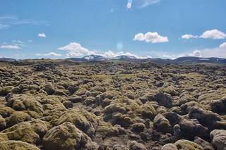Hekla et champ de lave