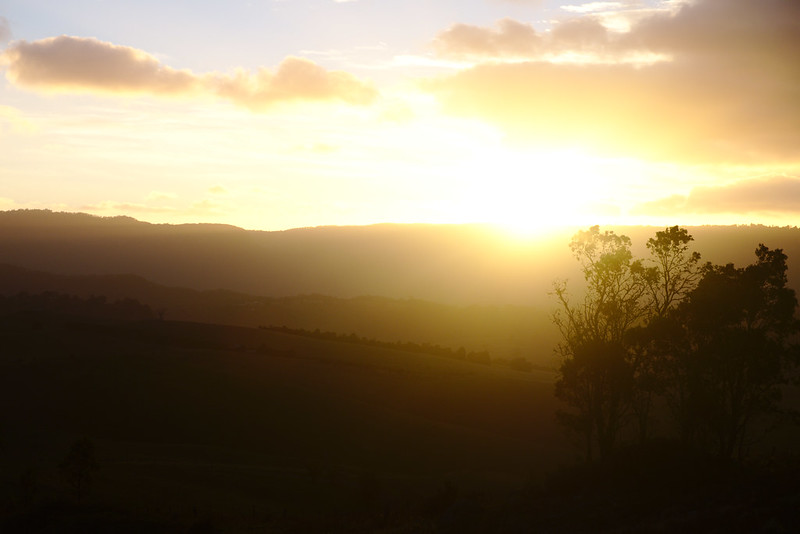 Dawn over the Blue Mountains escarpment, Kanimbla Valley