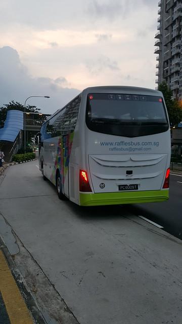 Raffles Bus Services Pte Ltd Isuzu LT434P SC Chivalrous - PC8009T on Off Service after completing its run on Premium 770