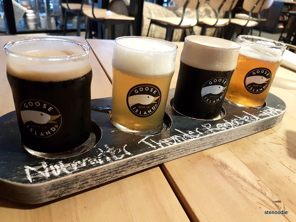 Goose Island beer flights