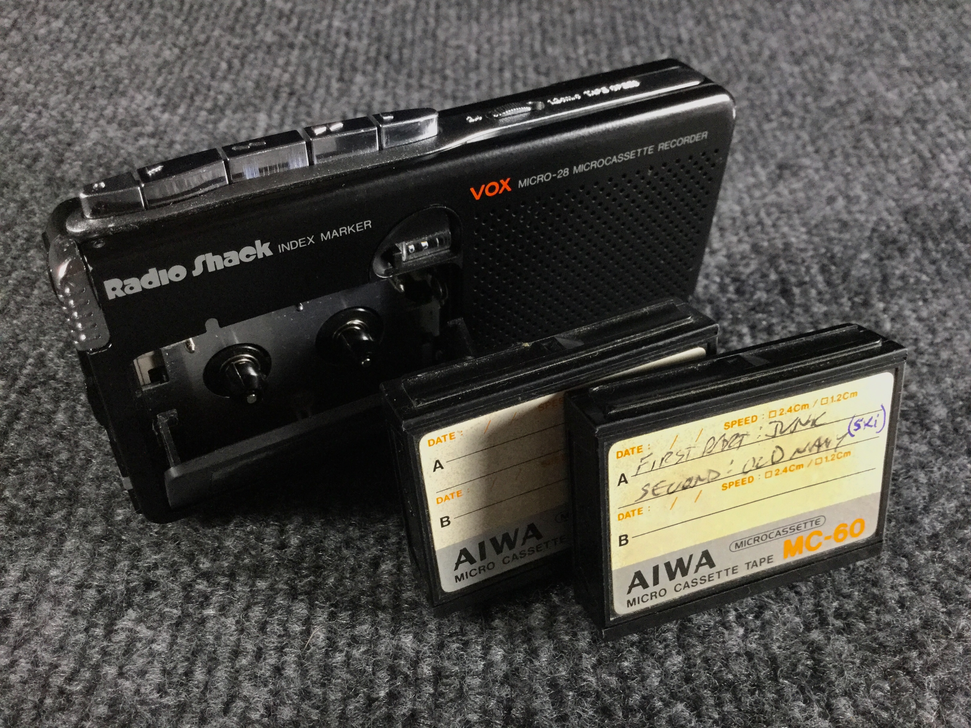 Micro-28 Recorder and Aiwa Tape