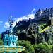 Edinburgh Castle & the recently restored Ross Fountain