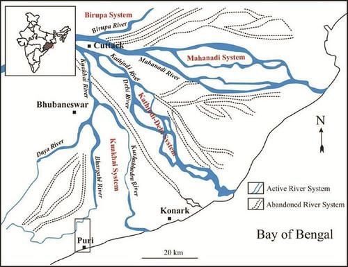 नदी मानचित्र पुरी (फोटो साभार : इंडिया साइंस वायर)