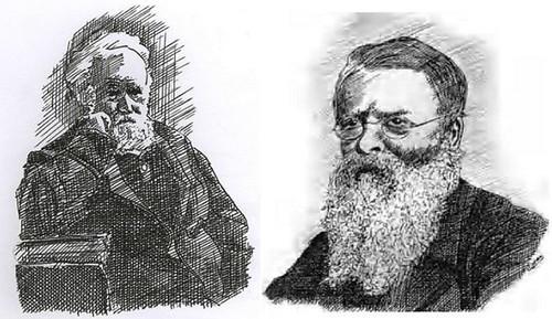 जैनसेन (बाएं) और टेनेंट (दाएं) – स्केच : डॉ. बिमान नाथ