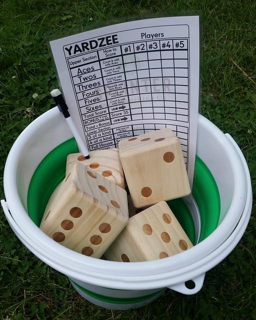 Yardzee Backyard Yahtzee Game