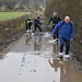 029-20180221_Gordano District-Somerset-crossing valley between Clapton in Gordano and Western in Gordano-walking group negotiating flooded track