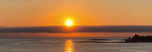 sunrise fog marine island vancouver parksville