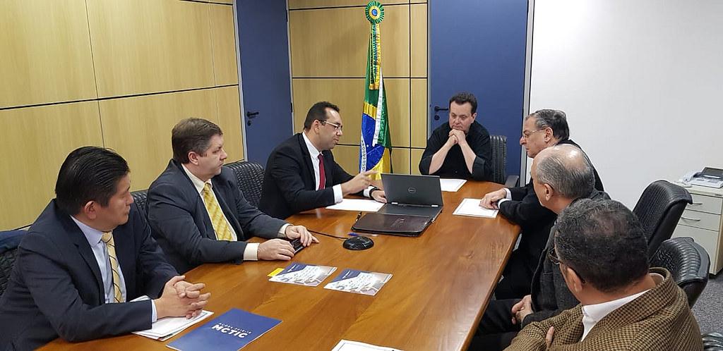 Ministro Gilberto Kassab, durante reunião com a diretoria da Eletros.  06/08/2018. São Paulo-SP.  Fotos: Célio Soares/MCTIC.
