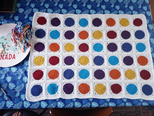 Circle in square baby blanket