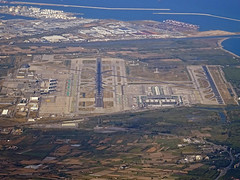 BCN AIRPORT FROM FLIGHT BCN-ORY A320 EC-MLE