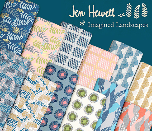 COTTON+STEEL Imagined Landscapes Collection by Jen Hewett